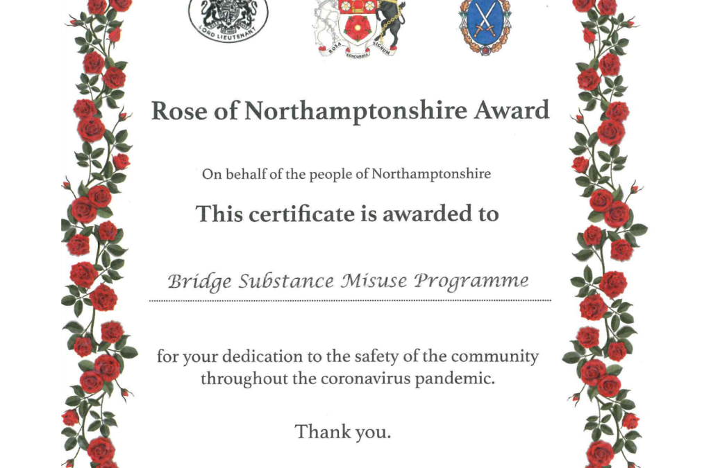 The Rose of Northamptonshire Award – January 2020